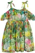 Mayoral Jungle Floral Cold-Shoulder Dress, Size 3-7