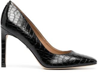 Sam Edelman Beth square-toe crocodile effect pumps