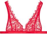 I.D. Sarrieri La Robe Noire Chantilly lace triangle bra