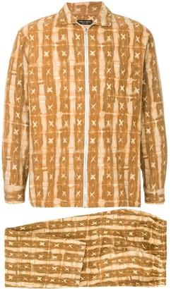 Comme Des Garçons Pre Owned Pajama Zip-Up Suit