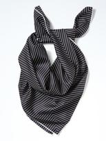 Banana Republic Square Pinstripe Silk Scarf
