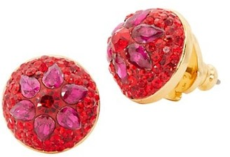 Kate Spade Brilliant Statements Flower Motif Dome Stud Earrings