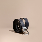 Burberry Reversible Border Detail London Leather Belt