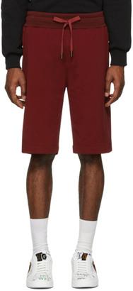 Dolce & Gabbana Red Scuro Bermuda Shorts