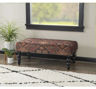 Winston Porter Bellavista Print Upholstered Bench Upholstery: Damascus