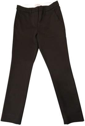 Marella Black Cotton Trousers