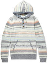 Faherty Baja Striped Cotton-Blend Jacquard Hoodie