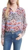 L'Agence Women's Nina Print Silk Blouse