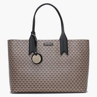 Emporio Armani Large Beige Repeat Logo Shopper Bag
