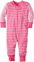 Hanna Andersson Macaron & White Stripe Night Night Baby Organic Cotton Playsuit
