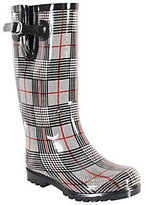 NOMAD Puddles Rubber Rain Boots - Plaid