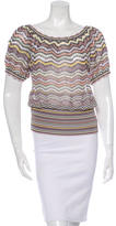 Missoni Abstract Pattern Short Sleeve Top