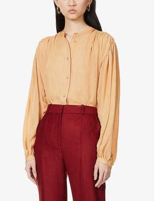KHAITE Denny silk pleated shirt