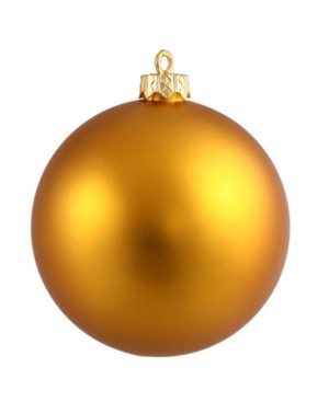 "Vickerman 8"" Antique Gold Matte Ball Christmas Ornament"
