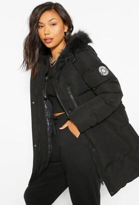 Luxe Technical Faux Fur Trim Parka
