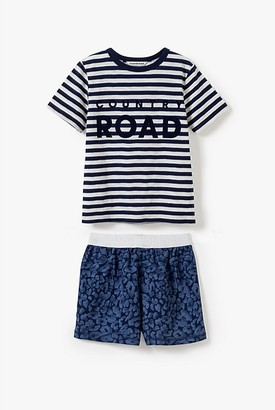 Country Road Organically Grown Cotton Stripe Logo Pyjama Set