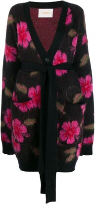 La DoubleJ Hawaiian flower cardi-coat