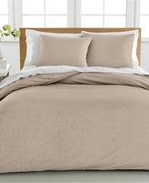 Sunham Cotton Linen Full/Queen Duvet Cover 3-Piece Set