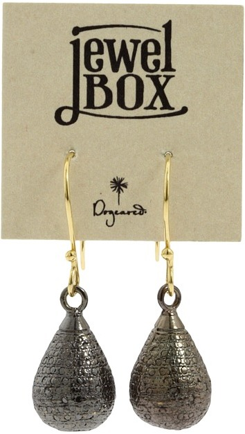 Dogeared Jewels Sparkle Teardrop (Charcoal/Gold) - Jewelry