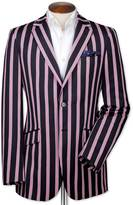 Charles Tyrwhitt Classic fit navy and pink striped boating blazer