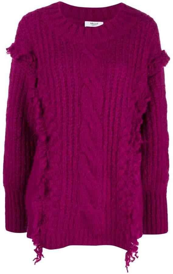 Blugirl ruffle detail sweater