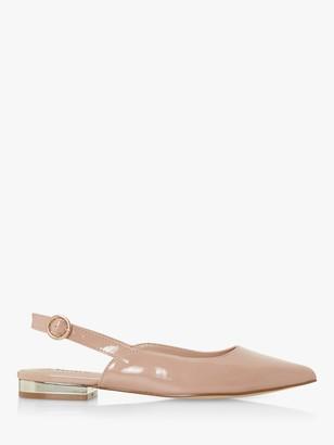 Dune Carsen Slingback Flat Court Shoes