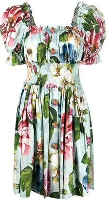 Dolce & Gabbana Floral Print Short Dress