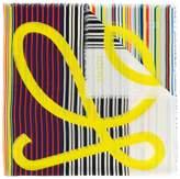 Loewe logo striped scarf