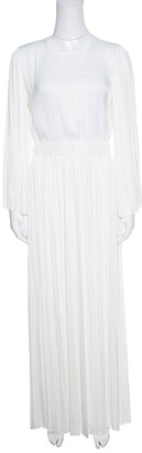 Elizabeth and James Ivory Cutout Back Josephine Pleated Dress S