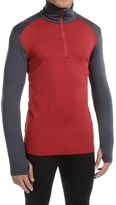 Icebreaker Tech Top BodyFit Base Layer Top - Merino Wool, Zip Neck (For Men)