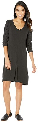 Fresh Produce Jetsetter Dress in Stretchy Modal Rib (Black) Women's Dress