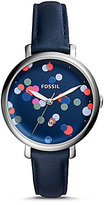 Fossil Jacqueline Dotted Analog Leather-Strap Watch