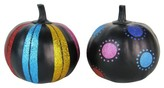 Hyde and Eek! Boutique 2ct Day of the Dead Painted Pumpkins (Stripes, Dots)