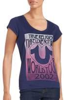 True Religion V-Neck Short Sleeve Tee