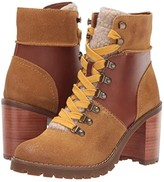 Frye And Co. AND CO. Rayner Hiker (White Waxy Full Leather/Suede/Shearling) Women's Boots