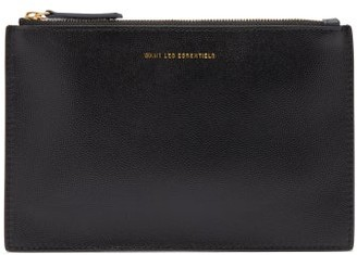 WANT Les Essentiels Lawrence Grained And Smooth Leather Pouch - Black Multi