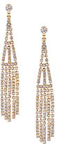 Cezanne Long Shower Rhinestone Drop Earrings