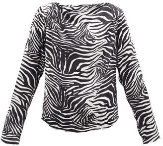 GAUGE81 Yamagata Draped Zebra-print Silk Blouse - Animal
