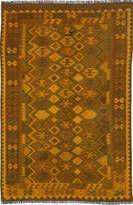 "nuLoom Hand-knotted Vintage overdyed Kilim 6'6""x9'5"" Gold"