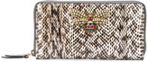 Gucci Queen Margaret zip around wallet - women - Calf Leather/Brass/glass - One Size