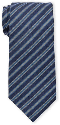 Missoni Blue Contrast Stripe Silk Tie