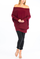 Olivaceous Off Shoulder Sweater