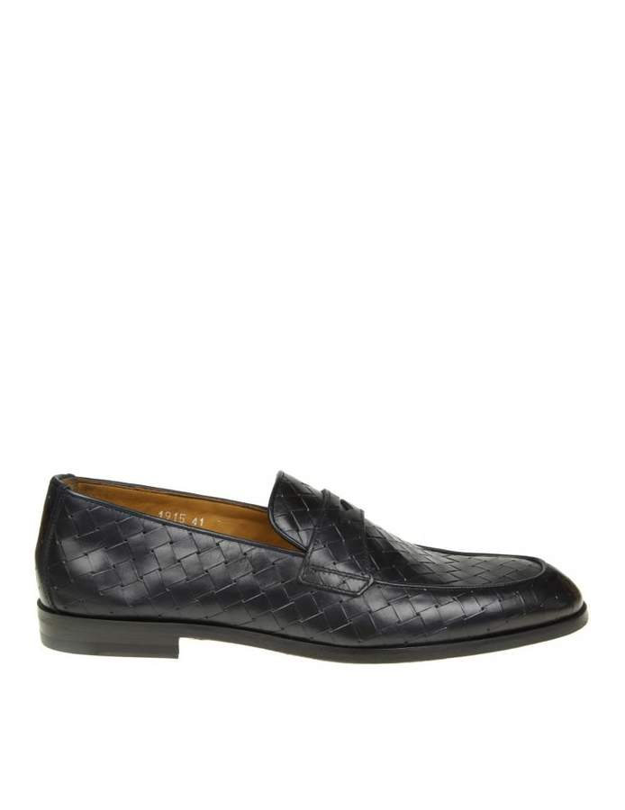 Doucal's Blue Woven Leather Loafer
