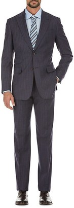 English Laundry Slim-Fit Striped Wool-Blend Suit