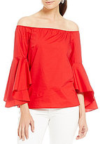 Gianni Bini Kristin Off the Shoulder Bell Sleeve Blouse