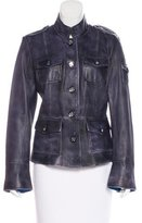 Tory Burch Distressed Leather Jacket