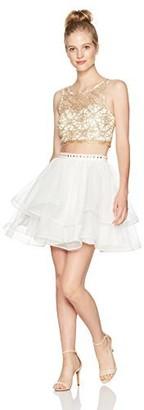 My Michelle Women's Two Piece Crop Top/Skirt Set