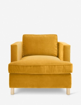 Lulu & Georgia Belmont Accent Chair, Goldenrod By Ginny Macdonald