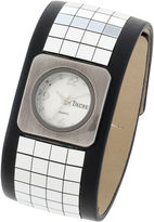 JCPenney Decree Womens Wide-Strap Tile Watch
