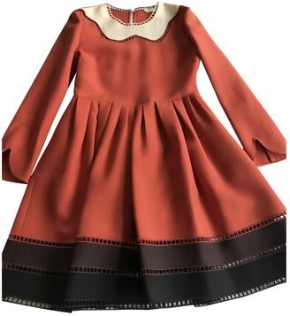 Fendi Orange Wool Dresses